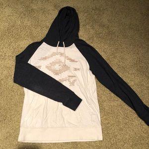 American Eagle hooded long sleeve sweater